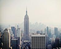 Vista di New York City con Empire State Building Immagini Stock