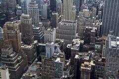 Vista di New York da Rockefeller Fotografia Stock Libera da Diritti
