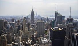 Vista di New York da Rockefeller Fotografie Stock Libere da Diritti