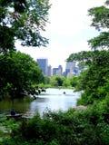 Vista di New York dal parco fotografie stock