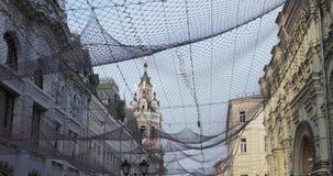 Vista di Nikolskaya della via su stock footage
