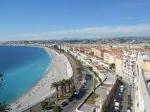 Vista di Nizza su Riviera francese immagine stock