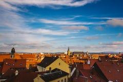 Vista di Norimberga, una città della città in Franconia negli stati federati della germania della Baviera Immagine Stock Libera da Diritti