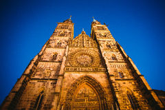 Vista di Norimberga, una città della città in Franconia negli stati federati della germania della Baviera fotografie stock libere da diritti