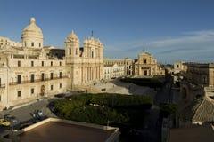 Vista di Noto, Sicilia Immagine Stock Libera da Diritti