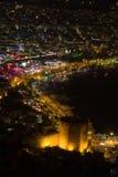 Vista di notte al Alanya Fotografie Stock