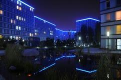Vista di notte calma di Shangdi MOMA immagine stock