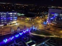 Vista di notte da Hilton Cincinnati fotografia stock libera da diritti