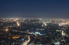 Vista di notte dal Charterhouse di San Martino Naples, campania, Italia, Europa Immagini Stock