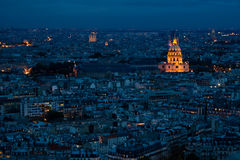 Vista di notte dalla Torre Eiffel Fotografia Stock