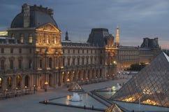 Vista di notte dei limiti di Parigi Immagini Stock Libere da Diritti
