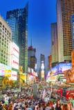 Vista di notte dei periodi Quadrato-centrali e quadrato principale di New York fotografie stock