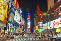 Vista di notte dei periodi Quadrato-centrali e quadrato principale di New York immagini stock libere da diritti
