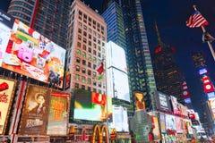 Vista di notte dei periodi Quadrato-centrali e quadrato principale di New York fotografia stock libera da diritti