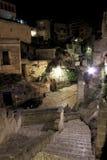 Vista di notte del †di Matera, Italia « fotografia stock