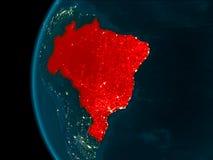 Vista di notte del Brasile Fotografia Stock Libera da Diritti