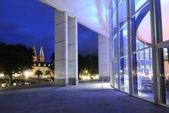 Vista di notte del centro storico di Lubeck Immagine Stock