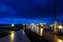 Vista di notte del molo del punto di Jesselton Fotografia Stock