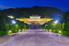 Vista di notte del museo di palazzo nazionale Immagine Stock