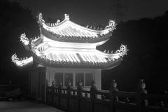 Vista di notte del padiglione Fotografia Stock Libera da Diritti