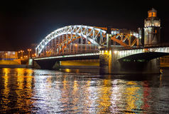 Vista di notte del ponticello Fotografie Stock