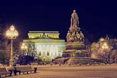 Vista di notte del teatro di Alexandrinsky Immagini Stock Libere da Diritti