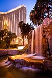 Vista di notte dell'hotel della baia di Mandalay a Las Vegas Fotografia Stock