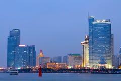 Vista di notte della Cina Xiamen Immagine Stock