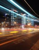 Vista di notte della città Fotografie Stock