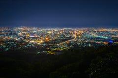 Vista di notte della città Fotografia Stock