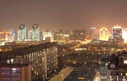 Vista di notte della città Fotografia Stock Libera da Diritti