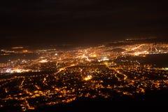 Vista di notte della città di Nitra Immagine Stock Libera da Diritti