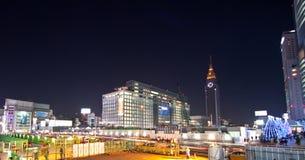 Vista di notte della città di Tokyo Immagine Stock Libera da Diritti