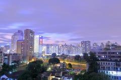 Vista di notte della comunità di Jiangjunci Immagine Stock