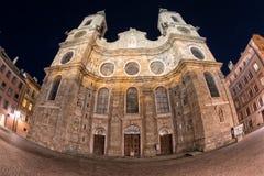 Vista di notte della cupola di Jacob del san di Innsbruck Fotografie Stock Libere da Diritti