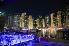 Vista di notte della Doubai Immagini Stock