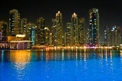 Vista di notte della Doubai Fotografie Stock