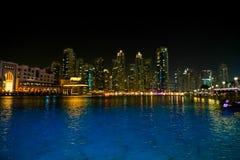 Vista di notte della Doubai Immagini Stock Libere da Diritti