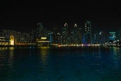 Vista di notte della Doubai Fotografia Stock Libera da Diritti