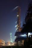 Vista di notte della fabbrica immagine stock