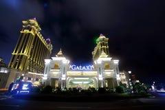 Vista di notte della galassia - Macau fotografia stock libera da diritti