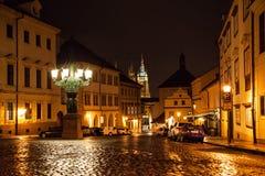 Vista di notte della st Vitus Cathedral Fotografia Stock Libera da Diritti