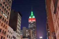 Vista di notte delle Empire State Building Immagini Stock Libere da Diritti