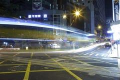 Vista di notte delle strade trasversali Fotografia Stock Libera da Diritti