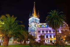 Vista di notte di Batumi fotografia stock libera da diritti