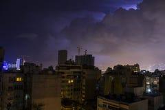 Vista di notte di Beirut, Libano Immagini Stock Libere da Diritti