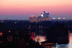 Vista di notte di Belgrado immagini stock libere da diritti