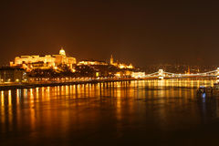 Vista di notte di Budapest Fotografia Stock Libera da Diritti
