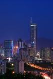 Vista di notte di CBD, Shenzhen fotografia stock