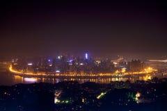 Vista di notte di Chongqing Fotografia Stock Libera da Diritti